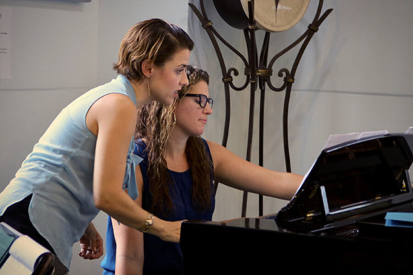 Jenn Gambatese worked with Sara Glassman (Pianist, Music Director and Vocal Coach) to select the best keys and cuts for the students at the Scene A Song master class.