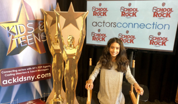 Madison Lagares from School of Rock on Broadway surprised campers at Actors Connectio Photo