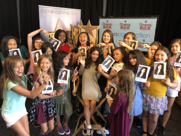 All smiles at Actors Connection with Broadway's Madison Lagares for a surprise Q&A an Photo