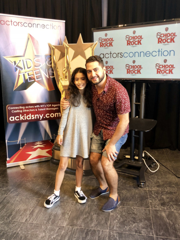 Broadway Star Madison Lagares with Director Walid Chaya, head of Actors Connection Ki Photo