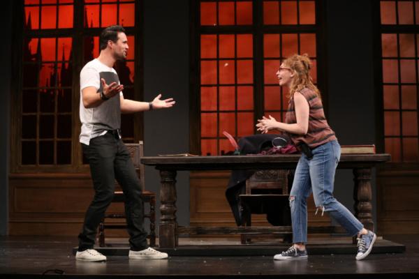 Brett Dalton as Jake and Andrea Syglowski as Roxanne