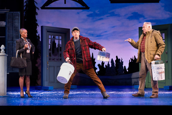 Tony nominee Brenda Braxton, Mark Jacoby, and Ed Dixon in Grumpy Old Men, the Musical at the Ogunquit Playhouse, 2018. Photo by Gary Ng.