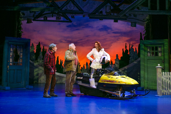 Mark Jacoby, Ed Dixon, and Leslie Stevens in Grumpy Old Men the Musical at the Ogunquit Playhouse. Photo by Julia Russell.