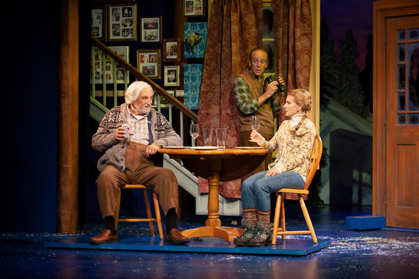 Tony and Emmy winner Hal Linden, Mark Jacoby, and Laura Woyasz in Grumpy Old Men the Musical at the Ogunquit Playhouse. Photo by Gary Ng.