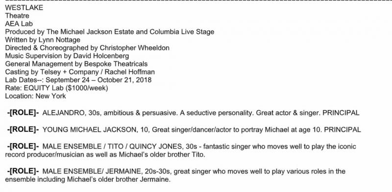 Michael Jackson Musical WESTLAKE to Have NYC Lab Next Month