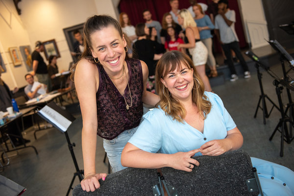Dr. Silver: A Celebration of Life Creators - Anika Johnson & Britta Johnson. Photo by Dahlia Katz