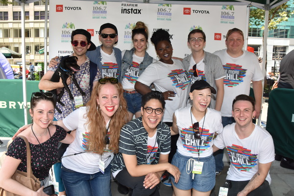 From Be More Chill-Chase Brock (Choreographer), Joe Iconis (Composer/Lyricist), Katlyn Carlson, Tiffany Mann, Will Roland, Jason SweetTooth Williams, Emily Marshall (Music Director), Jennifer Ashley Tepper (Producer), George Salazar, Lauren Marcus and Ger
