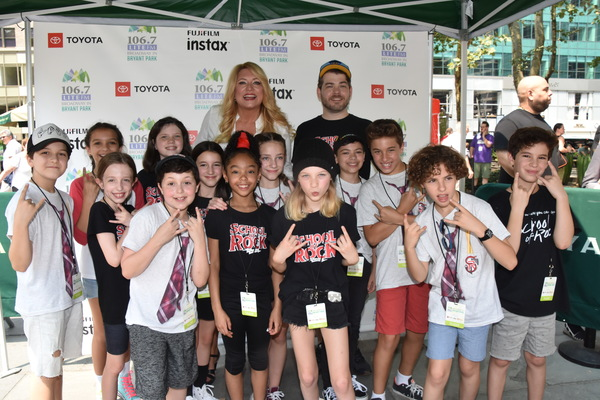 106.7 Lite FM's Delilah joins with cast members of The School of Rock-Hudson Loverro, Caroline Basu, Katie Greendorfer, Sarah Walsh, Jordan Cole, Theodora Silverman, Madeline Yarbrough Mills, Ava Briglia, Montgomery Lamb, Jonathan Wagner, Levi Buksbazen,