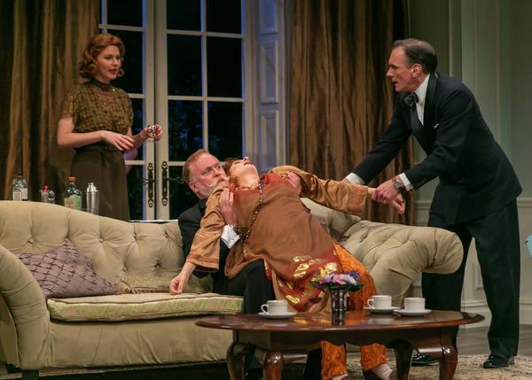 Kate MacCluggage as Ruth, Ames Adamson as Mr. Bradman, Tina Stafford as Madame Arcati, and Brent Harris as Charles.