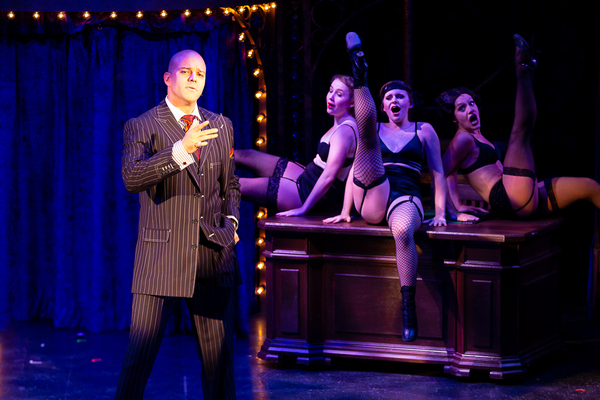 Matthew J. Taylor (Billy Flynn) and the cast of CHICAGO at Theatre By The Sea thru September 9. Photos by Steven Richard Photography.