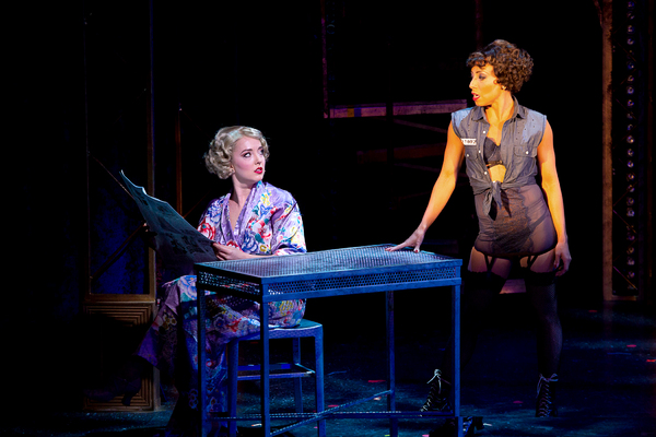 Jessica Wockenfuss (Roxie Hart) and Michelle Alves (Velma Kelly) in CHICAGO at Theatre By The Sea thru September 9. Photos by Steven Richard Photography.