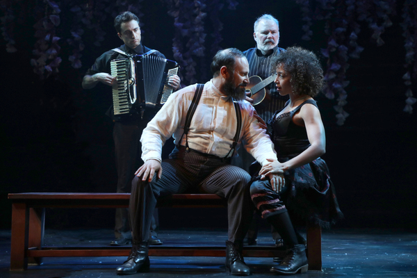 Charlie Thurston, Laith Nakli, Tom Riis Farrell and Claire Saunders in Goodspeed Musicals' Cyrano