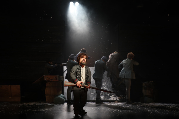 eter Dinklage and the cast of Goodspeed Musicals' Cyrano