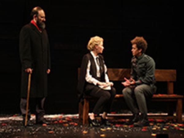 Laith Nakli, Haley Bennett and Damon J. Gillespie in Goodspeed Musicals' Cyrano