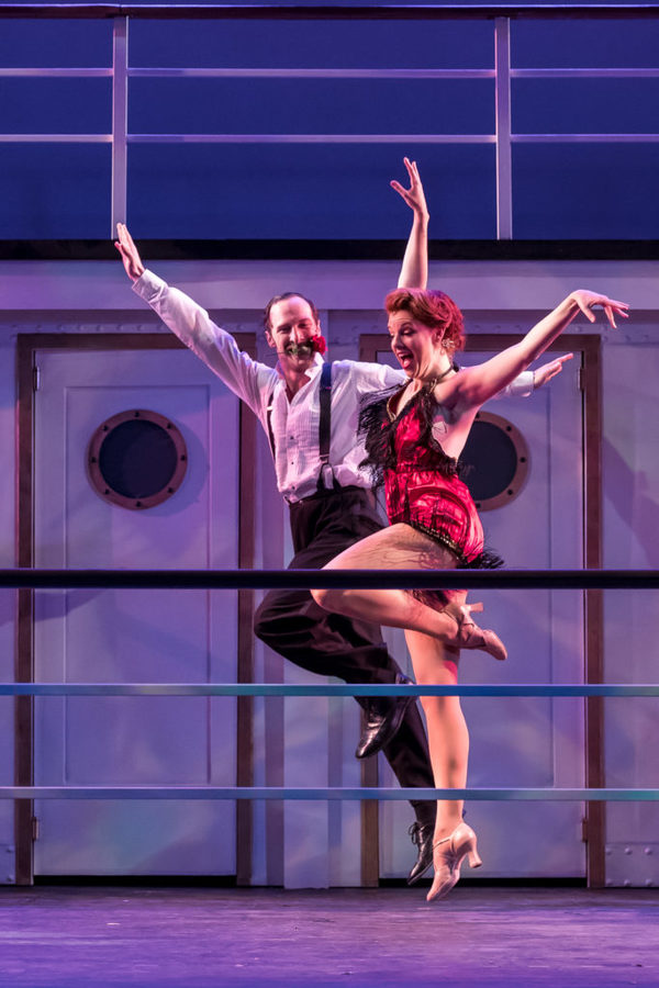 Erica Evans (Reno Sweeney) and Maxwell J DeTogne (Lord Evelyn Oakleigh)