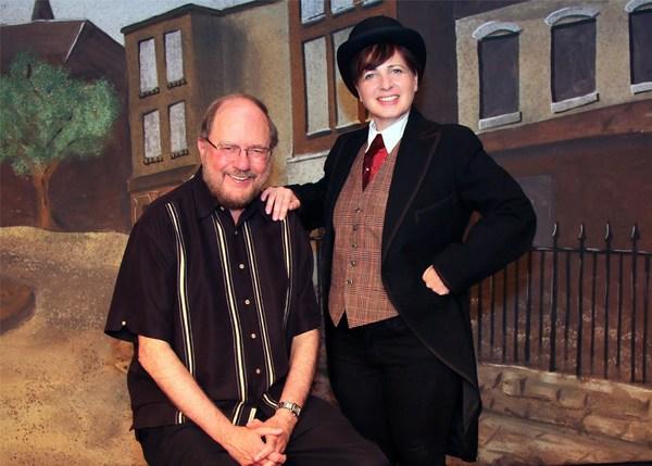 (l-r) Rupert Holmes & Nancy Feldman (Drood) (photos by Barbara & Steve Mintz)