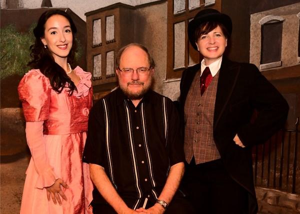 (l-r) Taylor Rose Rizzotti, Rupert Holmes, Nancy Feldman (photos by Barbara & Steve Mintz)