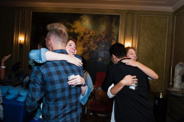 Justin Paul, Christiane Noll, Benj Pasek, Jessica Phillips Photo