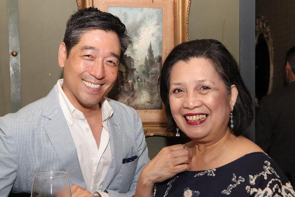 Peter Kim and Mia Katigbak