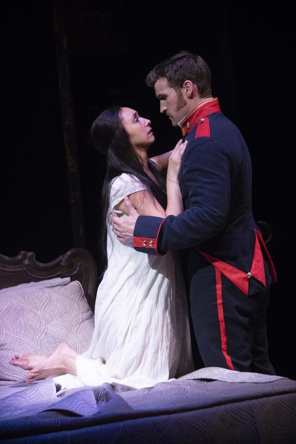 Natascia Diaz (Fosca) and Claybourne Elder (Giorgio) in Passion