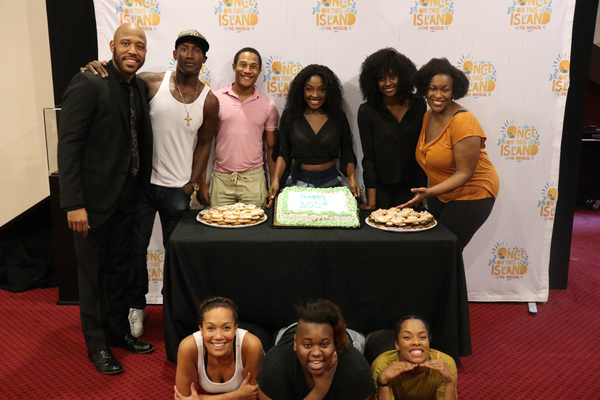 Top row Boise Philips, Quentin Earl Darrington, Daniel Yearwood, Loren Lott, Courtnee Carter, and Cicily Daniels. Cassondra James, Alex Newell, Anna Uzele
