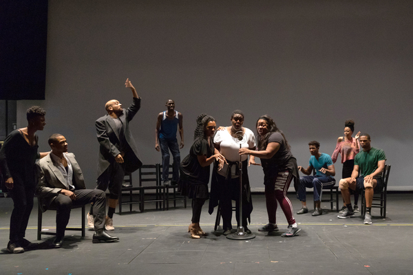 Photo Flash: In Rehearsal for THE BLACK CLOWN at Loeb Drama Center