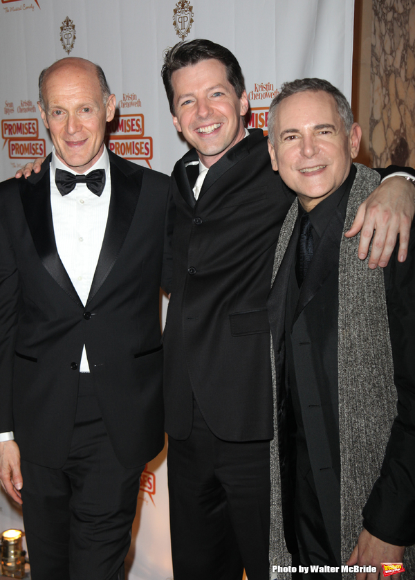 """Craig Zadan, Sean Hayes & Neil Meron attending the After Party for the Opening Night Broadway performance  for """"PROMISES, PROMISES"""" at the Plaza Hotel, New York City. April 25, 2010"""