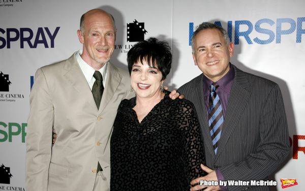 "Liza Minnelli with Neil Meron & Craig Zadan arriving for the New York Premiere Screening  of ""HAIRSPRAY"" at the Ziegfeld Theatre. July 16, 2007"