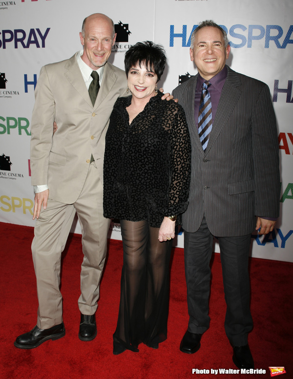 """Liza Minnelli with Neil Meron & Craig Zadan arriving for the New York Premiere Screening  of """"HAIRSPRAY"""" at the Ziegfeld Theatre. July 16, 2007"""