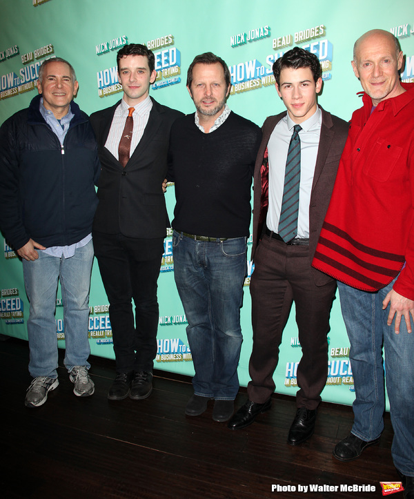 Craig Zadan, Michael Urie, Rob Ashford, Nick Jonas & Neil Meron.attending the after p Photo