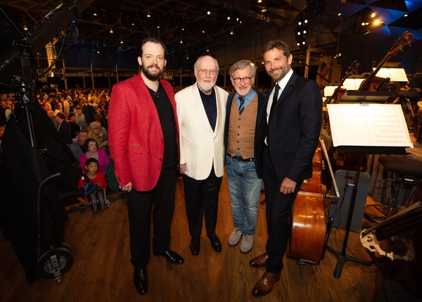 Andris Nelsons, John Williams, Steven Spielberg, Bradley Cooper Photo Credit: Michael Blanchard
