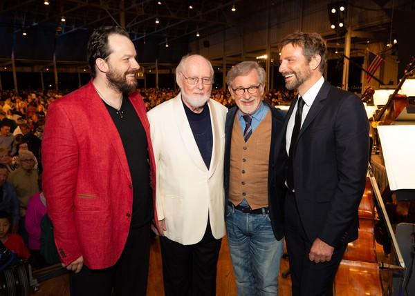 Andris Nelsons, John Williams, Steven Spielberg, Bradley Cooper Photo Credit: Michael Blanchard