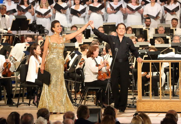 Nadine Sierra, Keith Lockhart, and the BSO Photo Credit: Hilary Scott Photo
