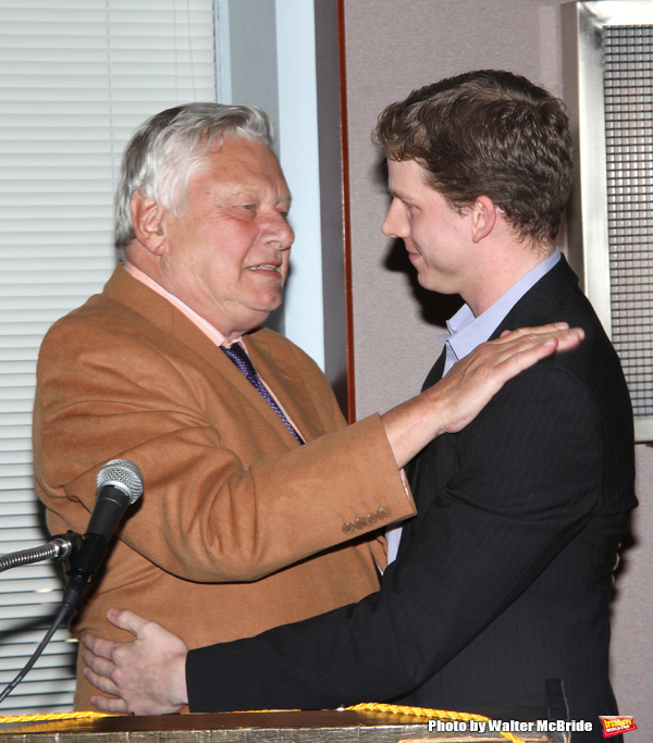 Stark Sands with Brian Murray attending the 2008 St. Clair Bayfield Award presented by the Actor's Equity Foundation at the Actor's Equity offices in New York City. January 9, 2009