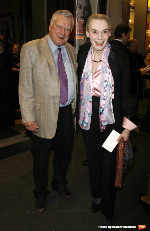 Marian Seldes & Brian Murray arriving for the Opening Night performance of The Roundabout Theatre Company's Broadway Production of PYGMALION at the American Airlines Theatre in New York City. October 18, 2007