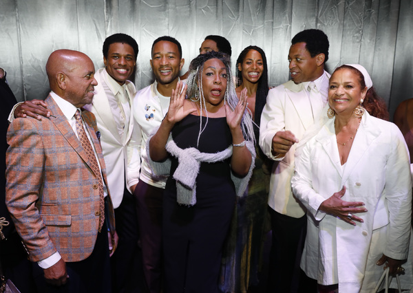 Berry Gordy, Jeremy Pope, John Legend, Mary Wilson, actor Vivian Nixon, Derrick Baskin and Debbie Allen
