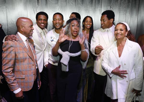 Berry Gordy, Jeremy Pope, John Legend, Mary Wilson, actor Vivian Nixon, Derrick Baski Photo