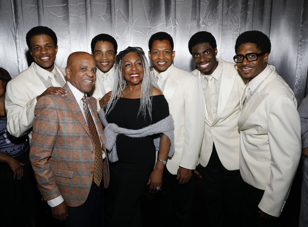 Jeremy Pope, Berry Gordy, James Harkness, Mary Wilson and Derrick Baskin, Jawan M. Jackson and Ephraim Sykes