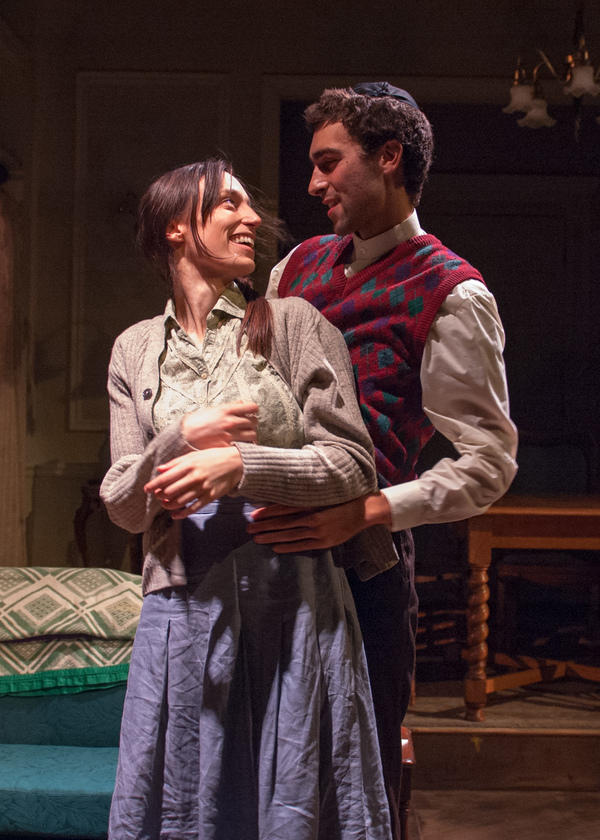 Lusia (Emily Berman) dreams of her husband Duvid (Alex Stein), whose fate she does no Photo