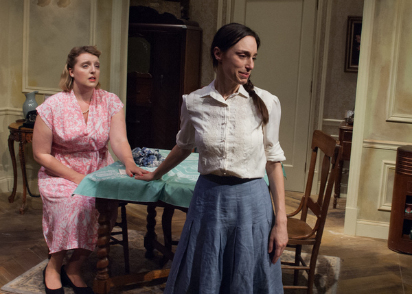 Lusia (Emily Berman, right) and Rose (Bri Sudia) are two sisters trying to reconnect after years of separation brought on by the rise of the Nazis.