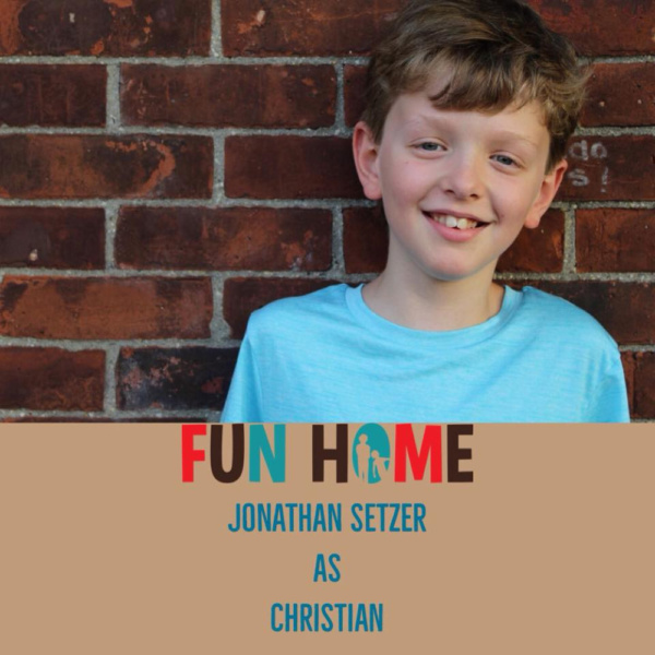 Jonathan Setzer as Christian.   Fun Home, SmithtownPAC.  Sept. 8th - Oct. 20th, 2018.  Photo: Courtney Braun.