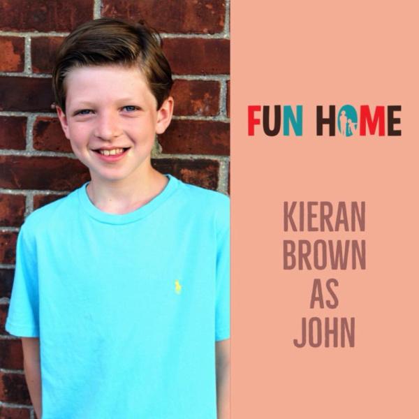 Kieran Brown as John   Fun Home, SmithtownPAC.  Sept. 8th - Oct. 20th, 2018.  Photo: Courtney Braun.
