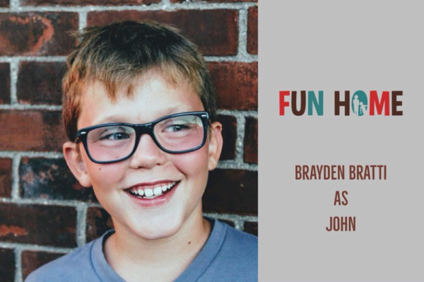 Brayden Bratti as John   Fun Home, SmithtownPAC.  Sept. 8th - Oct. 20th, 2018.  Photo: Courtney Braun.