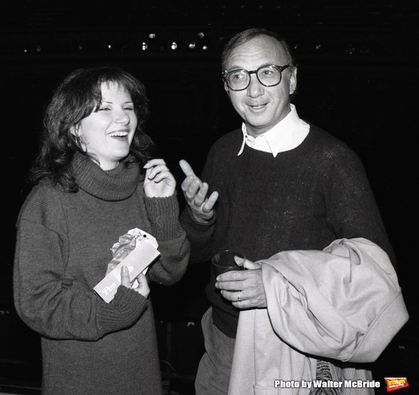 Mary Gordon Murray and Neil Simon attending a party after a performance of LITTLE ME at the Eugene O'Neill Theatre in New York City on November 1, 1982.