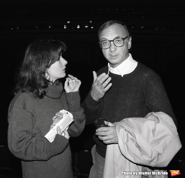 Mary Gordon Murray and Neil Simon attending a party after a performance of LITTLE ME  Photo