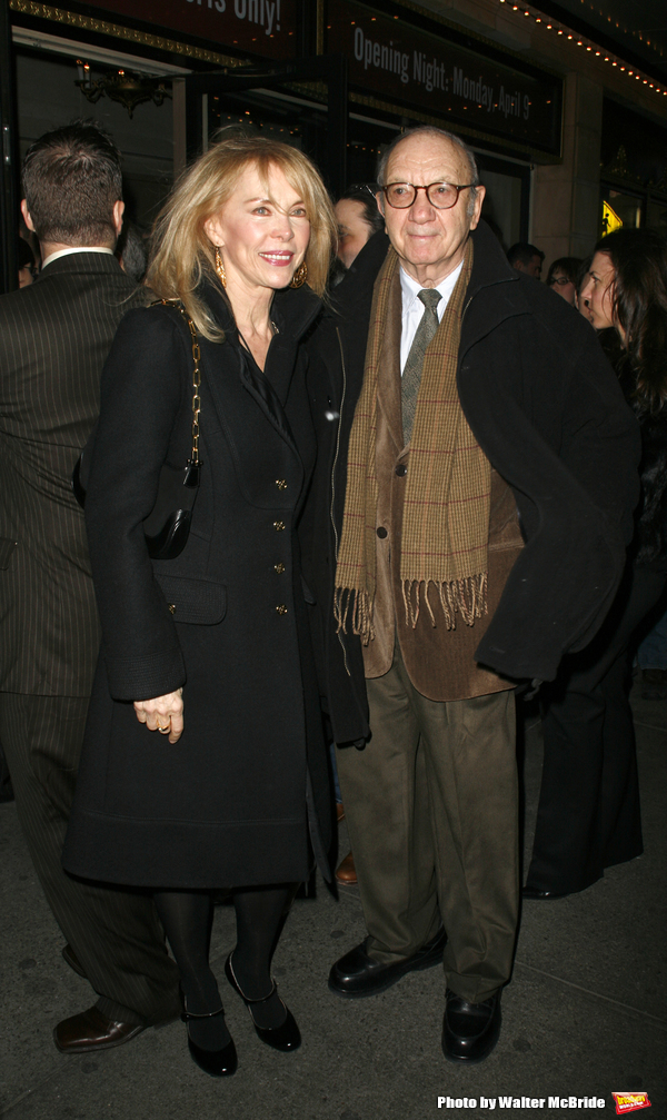 Neil Simon & wife Elaine Joyce arriving for the Opening Night Performance of Eugene O'Neill's A MOON FOR THE MISBEGOTTEN at the Brooks Atkinson Theatre in New York City. April 9, 2007