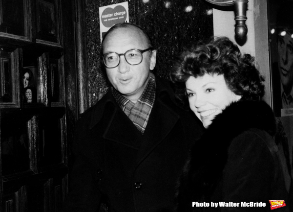 Neil Simon and Marsha Mason Attending a Broadway show in New York City. October 1979