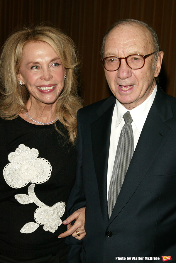 Neil Simon and wife Elaine Joyce Attending the Opening night performance of Neil Simon's THE ODD COUPLE at the Brooks Atkinson Theatre in New York City. October 27, 2005