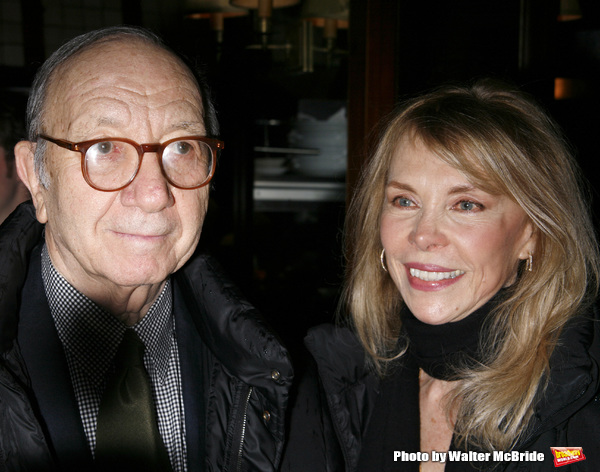 Neil Simon & Elaine Joyce attending  the Opening Night after party for the New David Mamet Play NOVEMBER at Restaurant Bond 45 in New York City. January 17, 2008