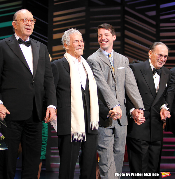 "Neil Simon, Burt Bacharach, Sean Hayes, Hal David take a bow on the  Opening Night Broadway performance Curtain Call for ""PROMISES, PROMISES"" at the Broadway Theatre, New York City. April 25, 2010"